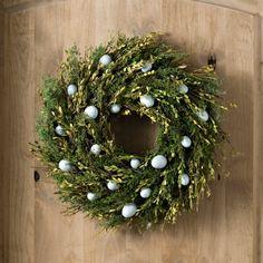 Preserved Boxwood Easter Egg Wreath