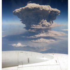 Passengers flying off on a Caribbean holiday were stunned when they spotted this massive volcanic eruption, which sent a huge plume of ash into the sky. The explosion of the Soufriere Hills volcano, on the island of Montserrat, sent ash bellowing up to 40