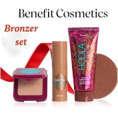 Benefit cosmetics bronzer mini set Benefit cosmetics bronzer mini set: - Hoola matte bronzer  - Dew the Hoola soft matte bronzer  - Hoola zero tanlines allover body bronzer Sephora Makeup Bronzer
