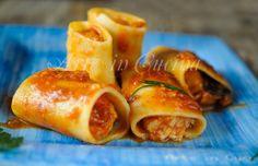 Paccheri ripieni di pesce, ricetta primo piatto, pasta al sugo di pesce, ricetta per pranzo, cena, piatto leggero con gronghi al sugo, ricetta per menu di pesce
