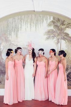 Masked Bridal party
