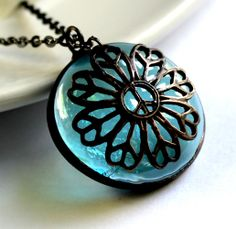 Peaceful Flower - Stained Glass Necklace. Starting at $1 on Tophatter.com!
