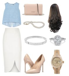 """""""Cute business outfit"""" by katelinbullock on Polyvore featuring Steve J & Yoni P, River Island, Massimo Matteo, Givenchy, Rolex and Michael Kors"""