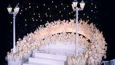 Reception Stage Decor, Modern Wedding Reception, Wedding Stage Design, Romantic Wedding Decor, Wedding Ceremony Backdrop, Wedding Set Up, Outdoor Wedding Decorations, Wedding Chairs, Reception Decorations
