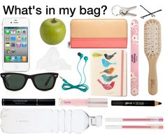 """""""what's in my bag?"""" by luczz ❤ liked on Polyvore"""