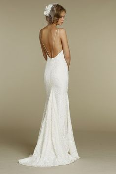 Beautiful backless wedding dress