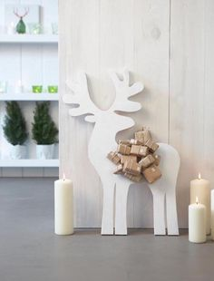 advent calendar DIY CHRISTMAS CRAFTS, christmas deer and packages, package advent calendar