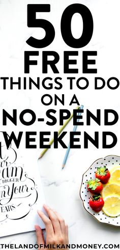 Excellent!! I SO needed some tips for saving money so these ideas of things to do on a no spend weekend are great! It's always a challenge to think of no spend activities with kids or with friends, so it's amazing to have these 50 ideas, especially when I'm desperately trying to embrace frugal living and save money! #savemoney #weekend #financialfreedom #personalfinance #budget #frugal #hacks #tips #inspiration #save #money #finances #advice #ideas #weekendvibes