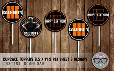 Call of duty cupcake toppers call of duty by PinkNerdPrintables