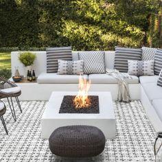 View the portfolio of interior designer Jute in San Francisco, California Backyard Seating, Backyard Patio Designs, Outdoor Seating Areas, Fire Pit Seating, Backyard Projects, Seating Area In Garden, Narrow Backyard Ideas, Outside Seating Area, Nice Backyard