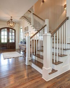 The Post You Have Been Waiting For…Southern Living Design House…Behind The Scene – Decorating Foyer Villa Plan, House Entrance, Entrance Design, Main Entrance, Grand Entrance, Stair Railing, Wood Staircase, Staircase Remodel, Grand Staircase