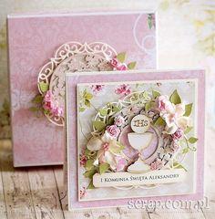 kartka_Pierwsza_Komunia_w pudelku1 Cute Crochet, Crochet Toys, Scrapbook Albums, Scrapbooking, First Communion, Handmade Decorations, Cute Cards, Beautiful Dolls, Gifts For Kids