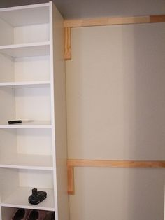How To Build Your Own Closet Built Ins Using A Billy Bookcase (IKEA Hack