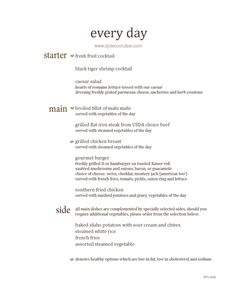 M004 Carnival Magic 12 Day Main Dining Room Dinner Menus Day 2 Enchanting Carnival Cruise Dining Room Menu Inspiration