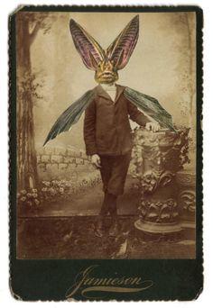 Victorian Gothic Bat Boy Weird Goth Halloween Art by dadadreams. , via Etsy.