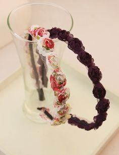 Bonbon beauty ! small fresh flower rose hair bands headband hair band $5.20