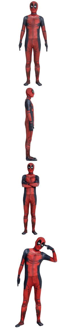Unisex 86207: Deadpool Cosplay Costumes Spandex Lycra Zentai Halloween Party Unisex Adult Kids -> BUY IT NOW ONLY: $129.99 on eBay!