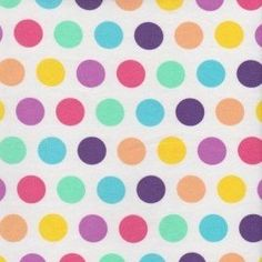 acb1e47c8b4 Knit Basics Pastel Polka Dots Cotton Lycra Knit. Peek-a-Boo Pattern Shop ...