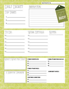Could incorporate some of these categories when I revamp my pages~~Spring planner pages
