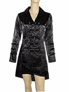 Sale Clearance 55% Off H&R Satin Look Gothic Coat Goth UK 8, 10    BIG SALE NOW ON AT mouseyessim on ebay