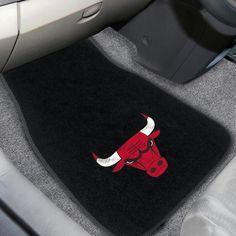 NBA - Chicago Bulls 2-piece Embroidered Car Mats 18x27