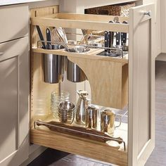 cabinet organization Top 5 Cabinet Storage and Organization Accessories Every Kitchen Should Include Nicole Janes Design Pantry Pull Out with Knife Block - Kitchen Cabinet Organization - Cabinet Accessories Kitchen Pantry Cabinets, Kitchen Cabinet Organization, Storage Cabinets, Diy Kitchen, Cabinet Ideas, Kitchen Counters, Pull Out Kitchen Storage, Pull Out Pantry, Teal Kitchen