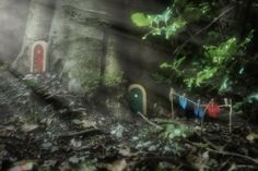 The Irish Fairy Door Company has won over thousands of children - and their parents, creating a magical fairy world behind a tiny door Fairy Door Company, Good Neighbor, Helping Children, Fairy Houses, Pixie, Fairy Tales, World, Painting, Homes