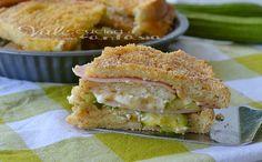 Torta di pane con zucchine stracchino e prosciutto cotto
