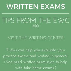 Written #exams are just part of the craft of writing. Let us help you perfect your art. #writingtips #writingcenter