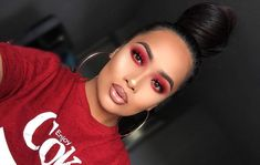 IG FACE- lock it foundation in medium 58 warm, LIPS- lip pencil in mudslide, velvet lip glide in Stripped, Crystal lip topper in Champagne Dream x Bellini EYES- ruby woo Lipstick to prime lid & Basic Red pigment Makeup Is Life, Makeup Goals, Makeup Inspo, Makeup Inspiration, Makeup Tips, Beauty Makeup, Makeup Ideas, Makeup Geek, Beauty Tips