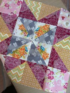 Starlight Quilt Kit, Warm Sunset