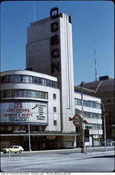 The lost movie theatres of Toronto Toronto Ontario Canada, Toronto City, Art Nouveau, Art Deco, Lost Movie, Yonge Street, Toronto Photos, Canadian History, Street Look