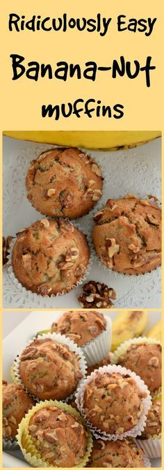 """These Banana Nut muffins are packed with a rich banana taste along with a crunchy walnuts. deliciously moist, lightly sweetened and tasty to the every last bite."""""""
