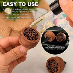 Car Air Freshener, Easy To Use, Aromatherapy, Diffuser, Essential Oils, How To Apply, Wood, Accessories, Woodwind Instrument