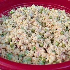 Salad Recipe: The key to making the best tuna salad is Creamette rings. Fol Tuna Salad Recipe: The key to making the best tuna salad is Creamette rings. -Tuna Salad Recipe: The key to making the best tuna salad is Creamette rings. Best Tuna Salad Recipe, Sea Food Salad Recipes, Tuna Recipes, Healthy Recipes, Seafood Recipes, Pasta Recipes, Cooking Recipes, Recipe Pasta, Tuna Salad Recipe With Noodles