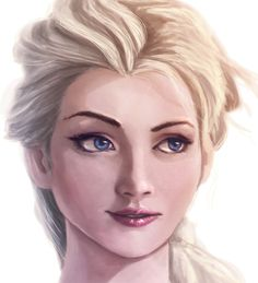 Frozen's Elsa - a fan-art portrait!!! XD This is incredible!!!