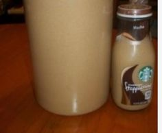 Yumm Starbucks coffee made at home!!  10 cups coffee  1/2 cup of sugar  1/2 cup brown sugar  1/2 cup vanilla creamer