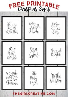 Free Printable Christmas Signs | Holiday Word Art