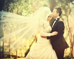 Muslim bride hijab wedding pictures