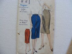 Vogue vintage sewing pattern 5066 for misses skirt by byRickMarsh, $10.00