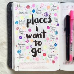bullet journal page ideas places I want to go bujo layout Filofax, Passion Planner, Happy Planner, Journal Prompts, Journal Pages, Journal Ideas, Journal Quotes, Writing Prompts, Smash Book