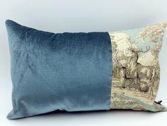 Velvet Deer Cushion Blue Velvet, Deer, Cushions, Room Decor, Throw Pillows, Luxury, Toss Pillows, Toss Pillows, Pillows