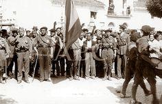 Spain - 1938. - GC - Zona nationalista - llegada de las tropas a Aracena