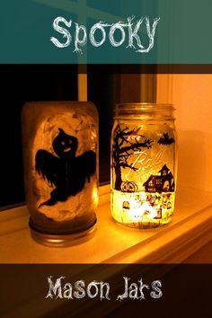 Easy Halloween DIY: Spooky Mason Jars | Quest for Calm Super easy #MasonJar #DIY for #Halloween