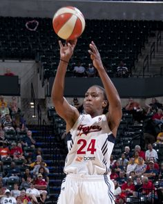 The Indiana Fever's Tamika Catchings