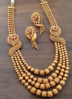Product Highlights Classic Gold Plated Long Necklace Set Delivery: Dispatched in. - Product Highlights Classic Gold Plated Long Necklace Set Delivery: Dispatched in working days C - Gold Jewelry Simple, Silver Jewelry, Gold Jewellery Design, Schmuck Design, Necklace Designs, Bridal Jewelry, Fashion Jewelry, Fashion Earrings, Necklace Set