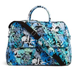 Vera Bradley Grand Traveler Travel Bag in Camofloral ($120) ❤ liked on Polyvore featuring bags, luggage and camofloral