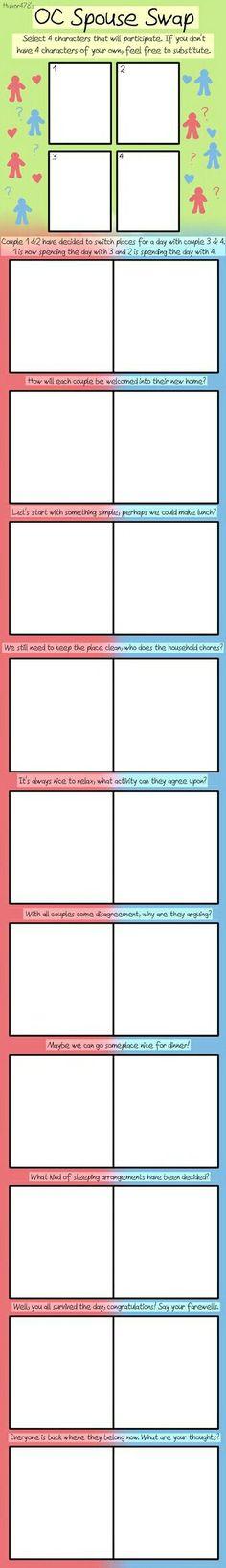 OC Spouse Swap: Blank Meme by on DeviantArt - - Drawing Meme, Ship Drawing, Drawing Prompt, Drawing Reference Poses, Drawing Tips, Art Reference, Drawing Ideas, Art Style Challenge, Drawing Challenge