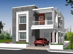 looking to buy residential independent house for sale in hyderabad? chandra shekhar residency is offering the best residential independent house for sale.Independent House Elevation Designs In Hyderabad Home - Independent House Front Elevation Photos House Outside Design, House Front Design, Small House Design, Modern House Design, 2 Storey House Design, Duplex House Plans, Bungalow House Design, Front Elevation Designs, House Elevation