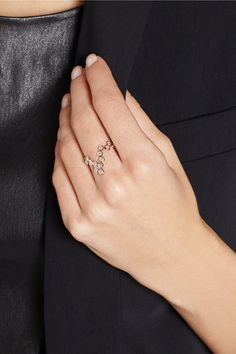 Lito | Hive 18-karat rose gold diamond ring | NET-A-PORTER.COM